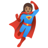 Woman Superhero: Medium Skin Tone on Google Android 11.0
