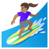 Woman Surfing: Medium Skin Tone on Google Android 11.0