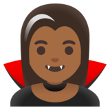Woman Vampire: Medium-Dark Skin Tone on Google Android 11.0