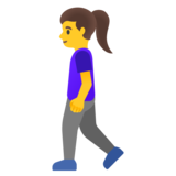 Woman Walking on Google Android 11.0