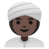 Woman Wearing Turban: Dark Skin Tone on Google Android 11.0