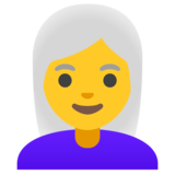 Woman: White Hair on Google Android 11.0