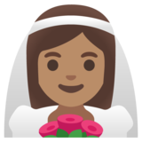 Woman with Veil: Medium Skin Tone on Google Android 11.0