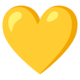 Yellow Heart on Google Android 11.0