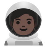 Astronaut: Dark Skin Tone on Google Android 11.0 December 2020 Feature Drop