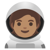 Astronaut: Medium Skin Tone on Google Android 11.0 December 2020 Feature Drop