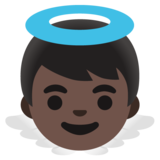 Baby Angel: Dark Skin Tone on Google Android 11.0 December 2020 Feature Drop