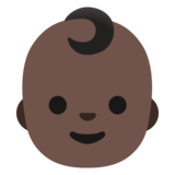 Baby: Dark Skin Tone on Google Android 11.0 December 2020 Feature Drop