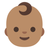 Baby: Medium Skin Tone on Google Android 11.0 December 2020 Feature Drop
