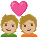 Couple with Heart: Medium-Light Skin Tone on Google Android 11.0 December 2020 Feature Drop