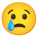 Crying Face on Google Android 11.0 December 2020 Feature Drop
