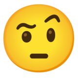 Face with Raised Eyebrow on Google Android 11.0 December 2020 Feature Drop