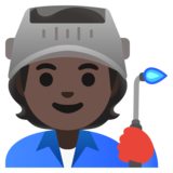 Factory Worker: Dark Skin Tone on Google Android 11.0 December 2020 Feature Drop
