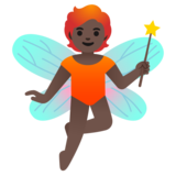 Fairy: Dark Skin Tone on Google Android 11.0 December 2020 Feature Drop