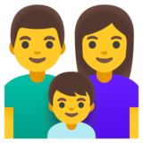Family: Man, Woman, Boy on Google Android 11.0 December 2020 Feature Drop