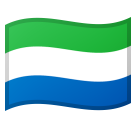 Flag: Sierra Leone on Google Android 11.0 December 2020 Feature Drop