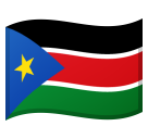 Flag: South Sudan on Google Android 11.0 December 2020 Feature Drop