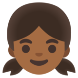 Girl: Medium-Dark Skin Tone on Google Android 11.0 December 2020 Feature Drop
