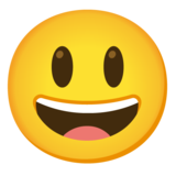 Grinning Face with Big Eyes on Google Android 11.0 December 2020 Feature Drop