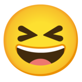 Grinning Squinting Face on Google Android 11.0 December 2020 Feature Drop