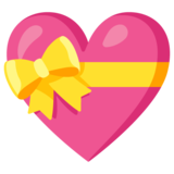 Heart with Ribbon on Google Android 11.0 December 2020 Feature Drop