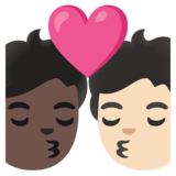 Kiss: Person, Person, Dark Skin Tone, Light Skin Tone on Google Android 11.0 December 2020 Feature Drop