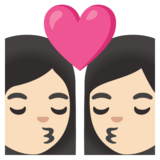 Kiss: Woman, Woman, Light Skin Tone on Google Android 11.0 December 2020 Feature Drop