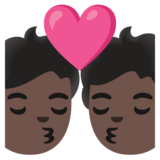 Kiss: Dark Skin Tone on Google Android 11.0 December 2020 Feature Drop