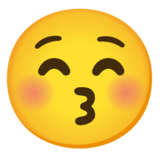 Kissing Face with Closed Eyes on Google Android 11.0 December 2020 Feature Drop