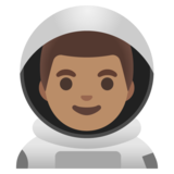 Man Astronaut: Medium Skin Tone on Google Android 11.0 December 2020 Feature Drop