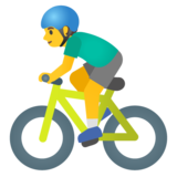 Man Biking on Google Android 11.0 December 2020 Feature Drop