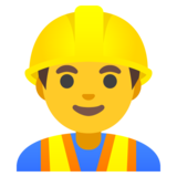 Man Construction Worker on Google Android 11.0 December 2020 Feature Drop