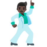 Man Dancing: Dark Skin Tone on Google Android 11.0 December 2020 Feature Drop