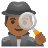 Man Detective: Medium-Dark Skin Tone on Google Android 11.0 December 2020 Feature Drop