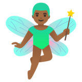 Man Fairy: Medium-Dark Skin Tone on Google Android 11.0 December 2020 Feature Drop