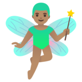Man Fairy: Medium Skin Tone on Google Android 11.0 December 2020 Feature Drop