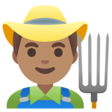 Man Farmer: Medium Skin Tone on Google Android 11.0 December 2020 Feature Drop