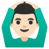 Man Gesturing OK: Light Skin Tone on Google Android 11.0 December 2020 Feature Drop
