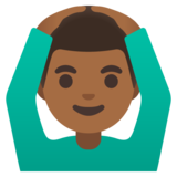 Man Gesturing OK: Medium-Dark Skin Tone on Google Android 11.0 December 2020 Feature Drop