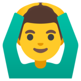 Man Gesturing OK on Google Android 11.0 December 2020 Feature Drop