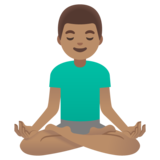 Man in Lotus Position: Medium Skin Tone on Google Android 11.0 December 2020 Feature Drop