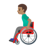 Man in Manual Wheelchair: Medium Skin Tone on Google Android 11.0 December 2020 Feature Drop