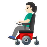 Man in Motorized Wheelchair: Light Skin Tone on Google Android 11.0 December 2020 Feature Drop
