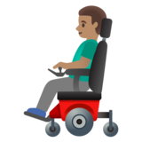 Man in Motorized Wheelchair: Medium Skin Tone on Google Android 11.0 December 2020 Feature Drop