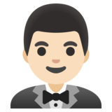 Man in Tuxedo: Light Skin Tone on Google Android 11.0 December 2020 Feature Drop
