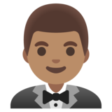 Man in Tuxedo: Medium Skin Tone on Google Android 11.0 December 2020 Feature Drop