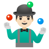 Man Juggling: Light Skin Tone on Google Android 11.0 December 2020 Feature Drop