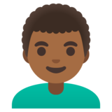 Man: Medium-Dark Skin Tone, Curly Hair on Google Android 11.0 December 2020 Feature Drop