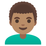 Man: Medium Skin Tone, Curly Hair on Google Android 11.0 December 2020 Feature Drop