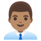 Man Office Worker: Medium Skin Tone on Google Android 11.0 December 2020 Feature Drop